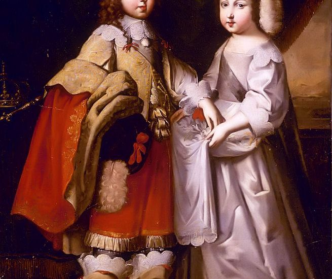 Portrait Of King Louis XIV & His Brother Duc D'Orleans